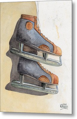 Skates Metal Print by Ken Powers