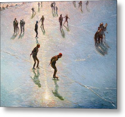 Skating In The Sunset  Metal Print