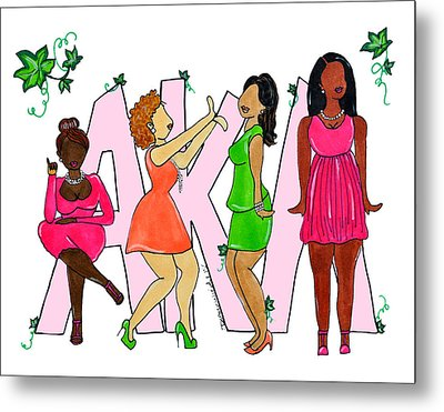 Skee Wee My Soror Metal Print by Diamin Nicole