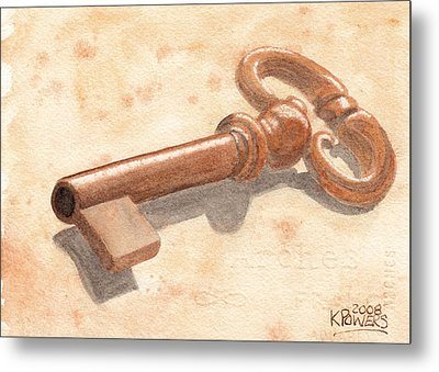 Skeleton Key Metal Print by Ken Powers