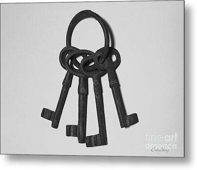 Metal Print featuring the photograph Skeleton Keys by Dodie Ulery
