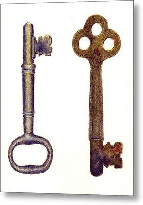 Skeleton Keys Metal Print by Michael Vigliotti