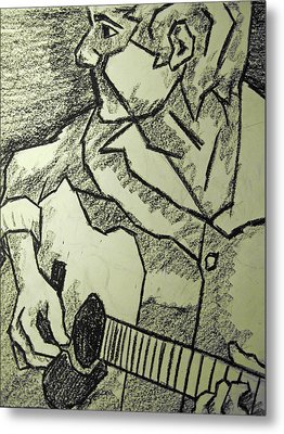 Sketch - Guitar Man Metal Print