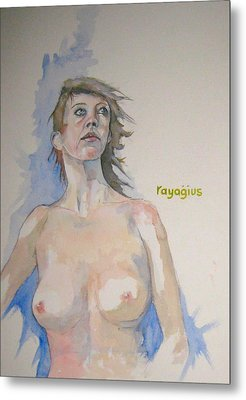 Metal Print featuring the painting Sketch For Megan V by Ray Agius