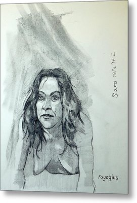 Metal Print featuring the painting Sketch For Sera.10.01 by Ray Agius