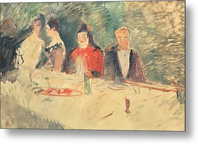 Sketch For The Supper Metal Print by Henri De Toulouse-Lautrec