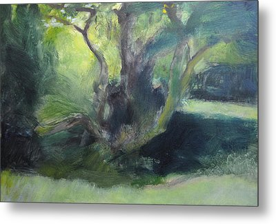 Sketch Of A Shady Glade. Metal Print by Harry Robertson