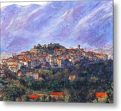 Sketch Of Potenza Metal Print
