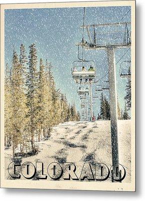 Ski Colorado Metal Print by Juli Scalzi