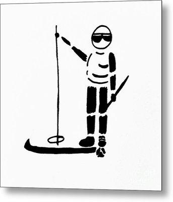 Ski Guy Metal Print