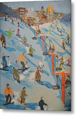 Ski Hill Metal Print by Rodger Ellingson