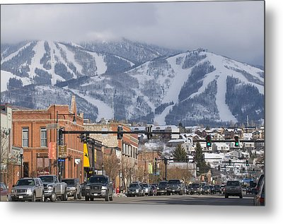 Ski Resort And Downtown Steamboat Metal Print by Rich Reid
