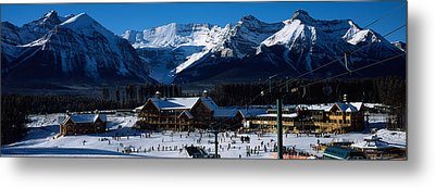 Ski Resort Banff National Park Alberta Metal Print by Panoramic Images
