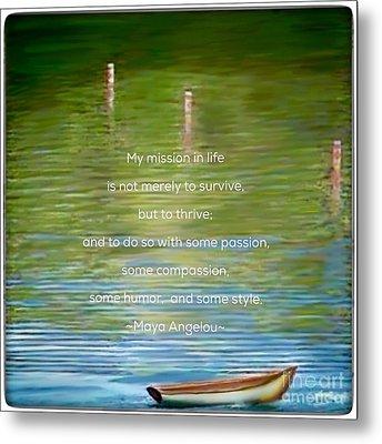 Skiff Boat Quote Metal Print