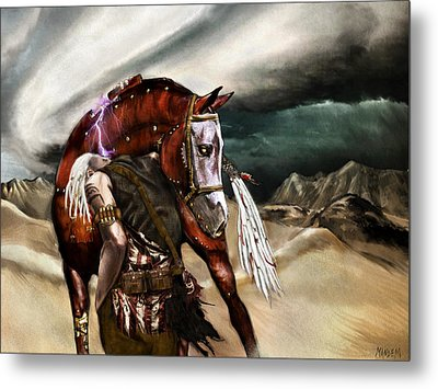 Skin Horse Metal Print by Mandem