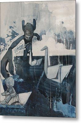 Skinney Malinky And The Paperswans Metal Print