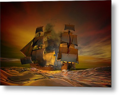 Skirmish Metal Print by Carol and Mike Werner
