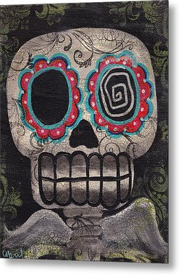 Skull Angel Metal Print by  Abril Andrade Griffith