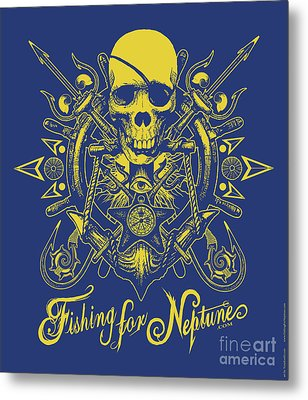 Skull F4n Metal Print by Tony Koehl