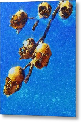 Skull Flower - Da Metal Print by Leonardo Digenio