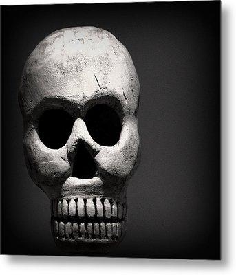 Skull Metal Print by Joseph Skompski