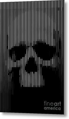 Skull Lines Metal Print by Sassan Filsoof