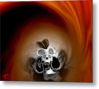 Skull Scope 3 Metal Print