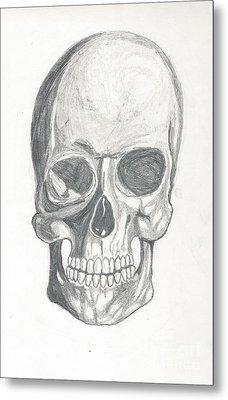 Skull Study 2 Metal Print