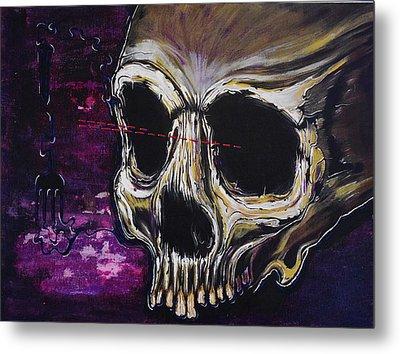 Skullfork 10 Metal Print by David Buschemeyer