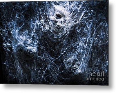 Skulls Tangled In Fear Metal Print