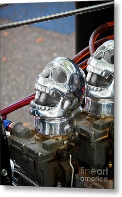 Metal Print featuring the photograph Skully by Chris Dutton