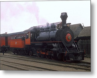 Skunk Train No 45 Fort Bragg California Metal Print by Brian Lockett