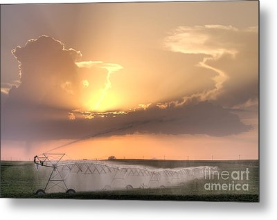 Sky And Water Metal Print by Art Whitton