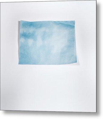 Sky Blue On White Metal Print