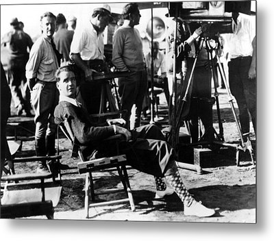 Sky Devils, Howard Hughes On The Set Metal Print by Everett