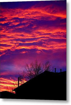 Metal Print featuring the photograph Sky Drama by Valentino Visentini