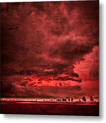 Metal Print featuring the photograph Sky Is Crying by Philippe Sainte-Laudy
