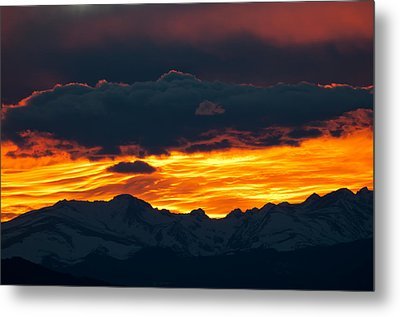 Sky Lava Metal Print by Colleen Coccia