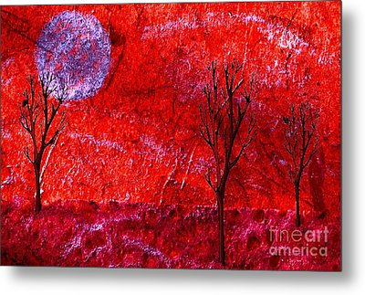 Sky Of Fire Metal Print by Mimo Krouzian