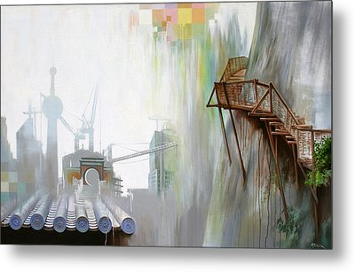 Metal Print featuring the painting Sky Path by Dave Platford