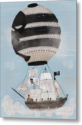 Metal Print featuring the painting Sky Pirates by Bri B