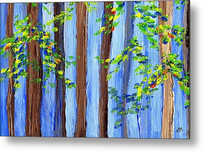 Sky Through Trees Metal Print by Linda Mears