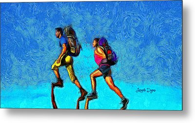 Sky Walkers - Da Metal Print by Leonardo Digenio