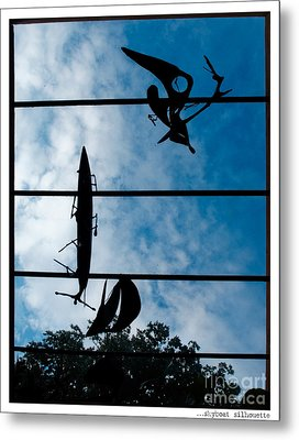 Skyboat Silhouette Metal Print by Jay Taylor