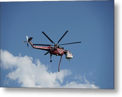 Skycrane Works The Red Canyon Fire Metal Print by Bill Gabbert