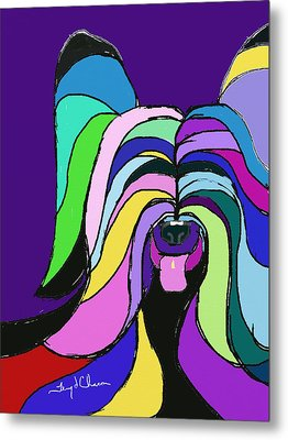 Skye Terrier Colors Metal Print by Terry Chacon