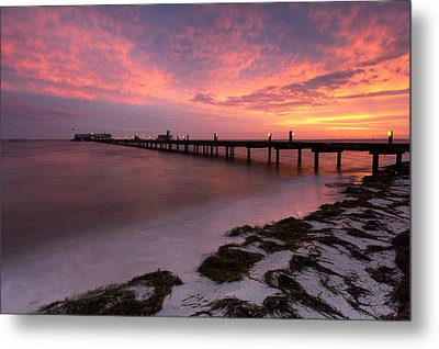 Metal Print featuring the photograph Skyfire - Anna Maria  by Patrick Downey