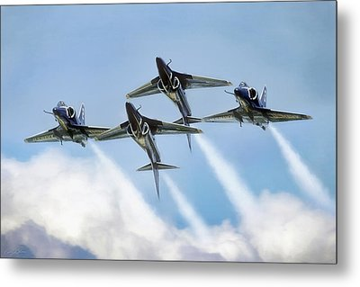 Skyhawk Double Farvel Metal Print by Peter Chilelli