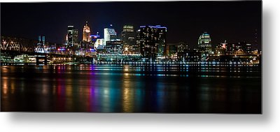 Skyline At Night Metal Print