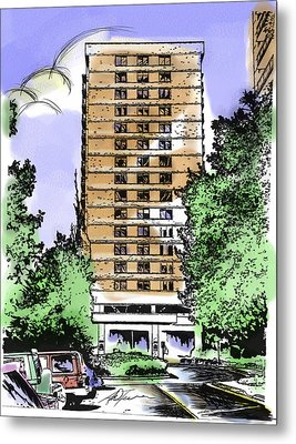 Skyline House Condo Metal Print